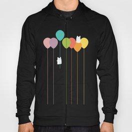 Fluffy bunnies and the rainbow balloons Hoody