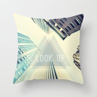 buildings Throw Pillows featuring Buildings by Sofia Tirronen