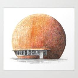 Montreal's Orange Julep Art Print