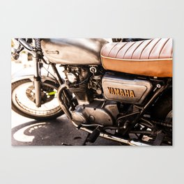 Old Yamaha Motorcycle Canvas Print