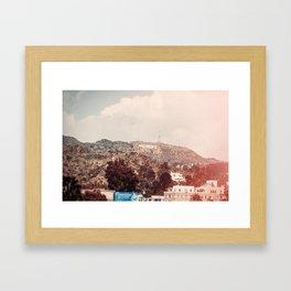 Hollywood Scene Framed Art Print