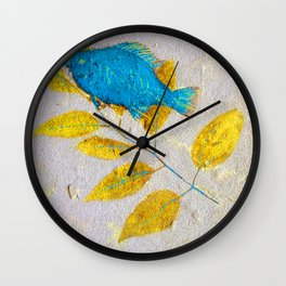 panning for gold: green river, wyoming Wall Clock