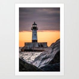 Through the Rocks Art Print