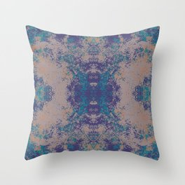Colorful Abstract Bohemian Chic Blossom Mandala Art - Unsina Throw Pillow