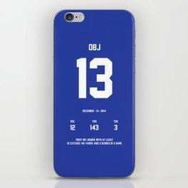 OBJ (December) iPhone Skin