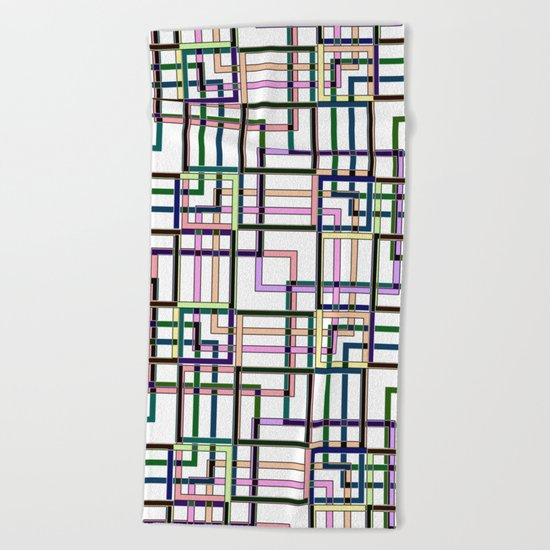 Abstract geometric pattern. Beach Towel