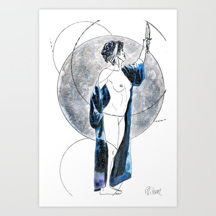 Singing Down the Moon Art Print