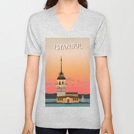 Istanbul Illustration Unisex V-Neck