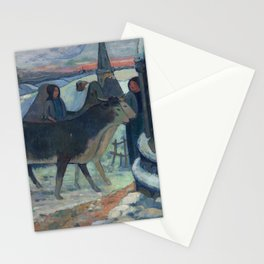 Christmas Night, The Blessing of the Oxen, Gauguin Stationery Cards