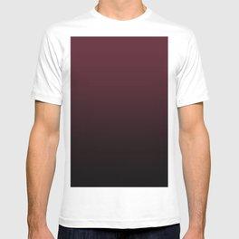 Burgundy Wine Ombre Gradient T-shirt