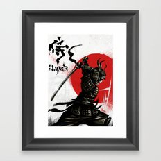 Samurai Invader Framed Art Print