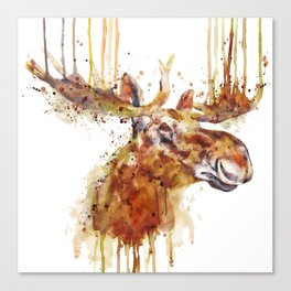 Moose Head Canvas Print