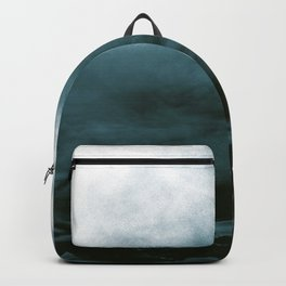 WHITE & BLUE & BLACK TOUCHING #1 #abstract #decor #art #society6 Backpack