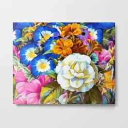 Colorful Floral Metal Print