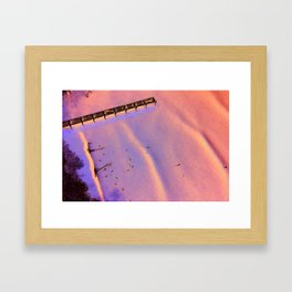 Aerial of Jacksonville Beach Pier Surf Framed Art Print