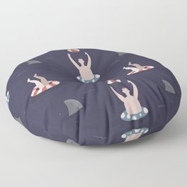 Swimming with Sharks (Patterns Please) Floor Pillow