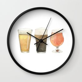 The Three Beers Wall Clock