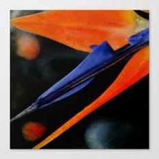 Bird of Paradise Abstract Canvas Print