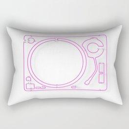 Neon Turntable 2 - 3D Art Rectangular Pillow