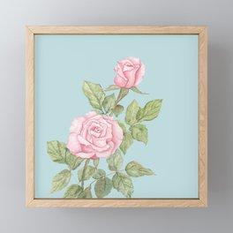 Garden Roses in Bloom Framed Mini Art Print