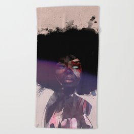 Afro Funk Beach Towel