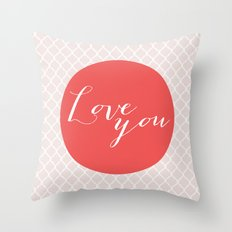 Love you - red Throw Pillow