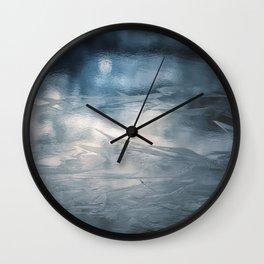 Lake Ice Blue Wall Clock