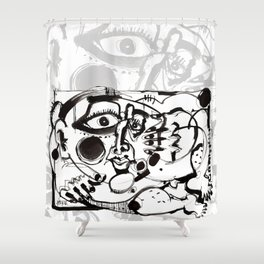 Afternoon Relaxation - b&w Shower Curtain