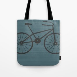 Grey Bike by Friztin Tote Bag