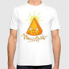 In Cheese We Trust SMALL Mens Fitted Tee White
