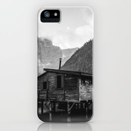 House on Water (Black and White) iPhone Case