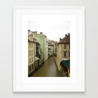 prague Framed Art Prints featuring Prague by Marieken