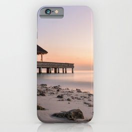 BROWN HUTCH ON BOAT DOCK iPhone Case