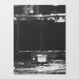 Press for Champagne Button, London Canvas Print