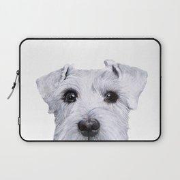 Schnauzer original Dog original painting print Laptop Sleeve