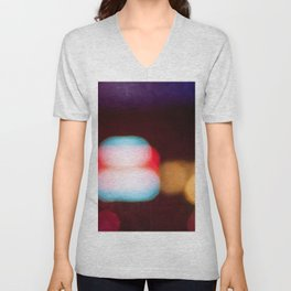Abstract Light And Color Field Unisex V-Neck