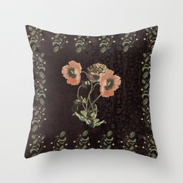 Promises in a poppy Throw Pillow