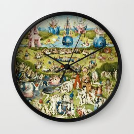 Heironymus Bosch - The Garden Of Earthly Delights Wall Clock