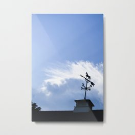 A Wind From the East - Weathervane Metal Print