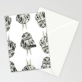 Owl Sketch Black & White Stationery Cards