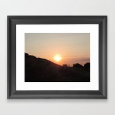 Sunset in Doesburg Framed Art Print