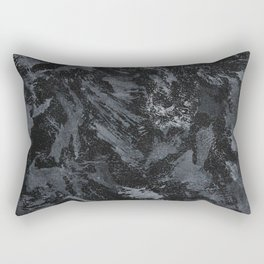 White Ink on Black Background #5 Rectangular Pillow