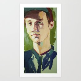 Young Kenneth Surrounded by Green Art Print