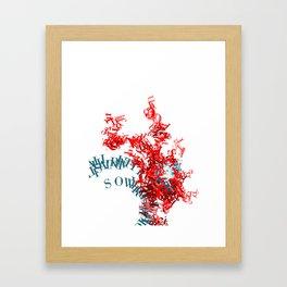 For Kicks Framed Art Print