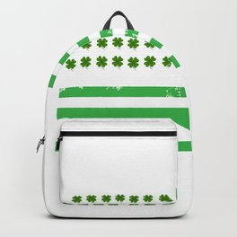 USA American Flag St. Patrick's Day Irish Backpack