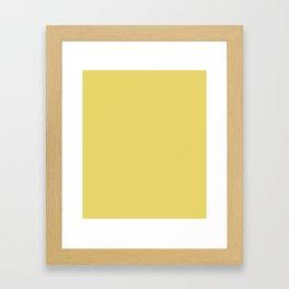 Hansa Yellow - solid color Framed Art Print