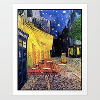 Dr. Who at Cafe Terrace Art Print
