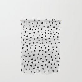 Dalmatian dots black Wall Hanging