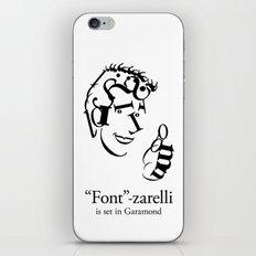 'Font'-zarelli iPhone Skin