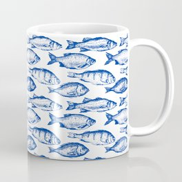 Dark Blue Fish Coffee Mug